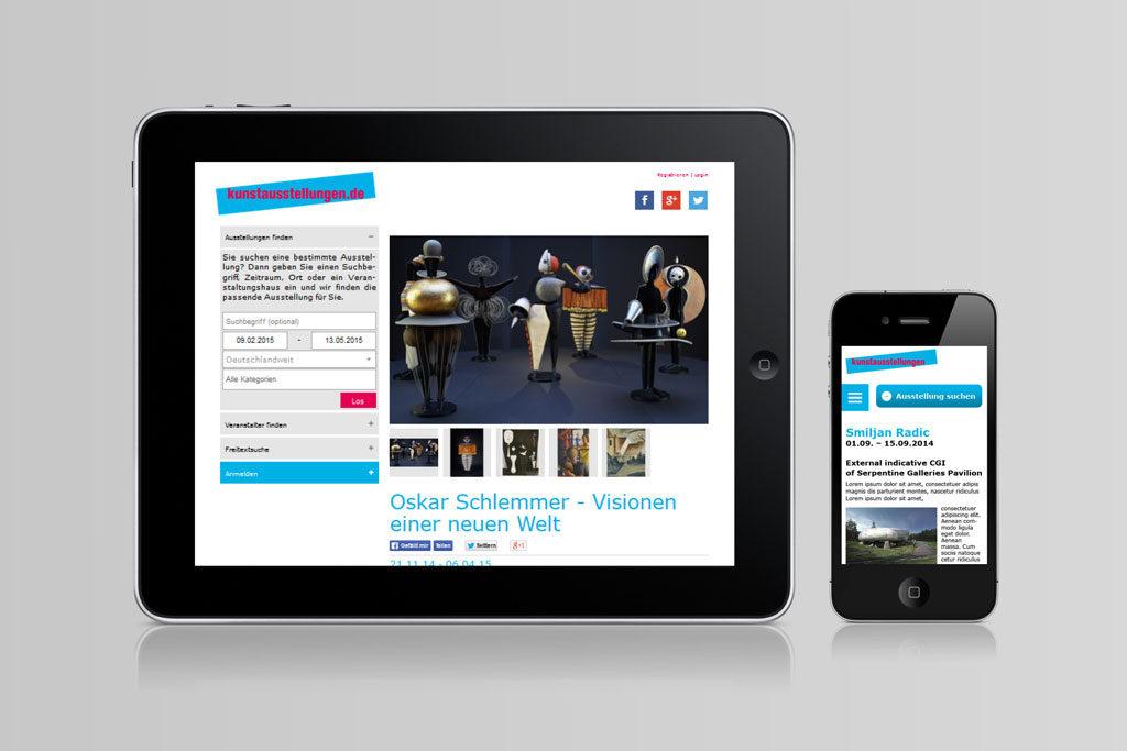 webdesign für kunstaustellungen
